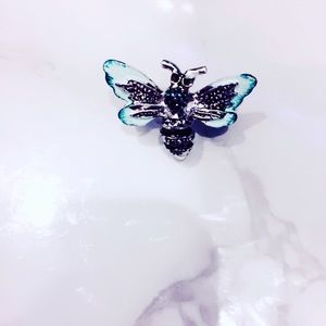 Blue Butterfly Pin Brooch